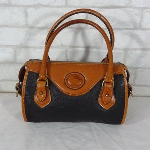 Vintage Dooney & Bourke Black Brown Satchel Bag
